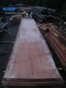"""#507 (lot #1). Redwood (34""""W x 202""""L x 2.75""""T) $1,976"""