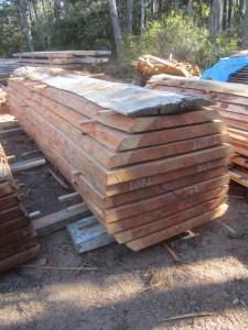 """Lot #1, Redwood, 42""""W x 202""""L, 2.75"""" thick slabs.od log."""