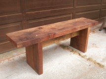 Redwood 2x4 Bench - Year of Clean Water