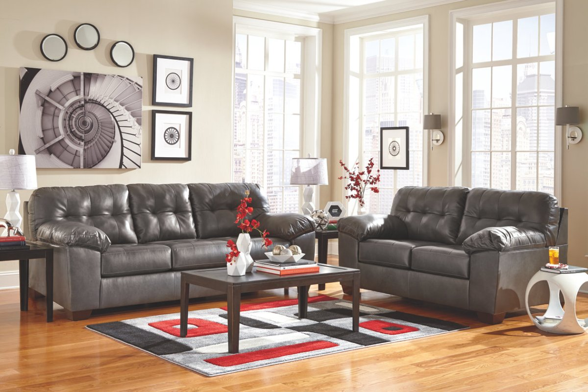 Astonishing Alliston Sofa Loveseat Gray Andersons Furniture Caraccident5 Cool Chair Designs And Ideas Caraccident5Info