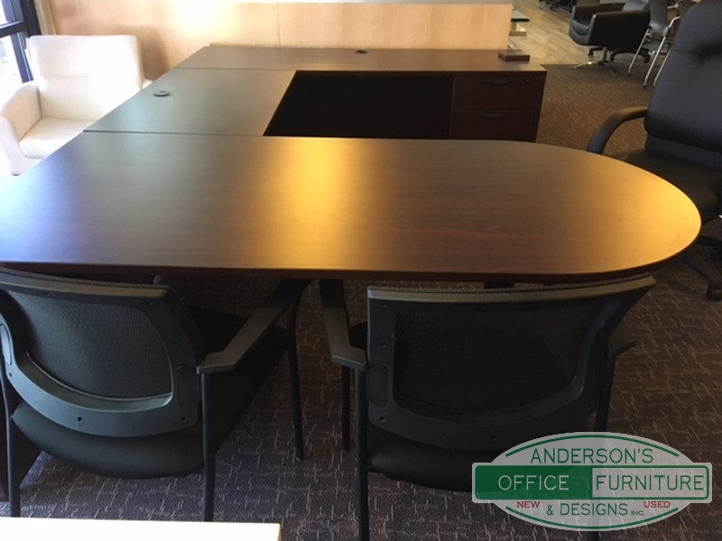 Cherryman Ushaped Desk Set  Andersons Office Furniture