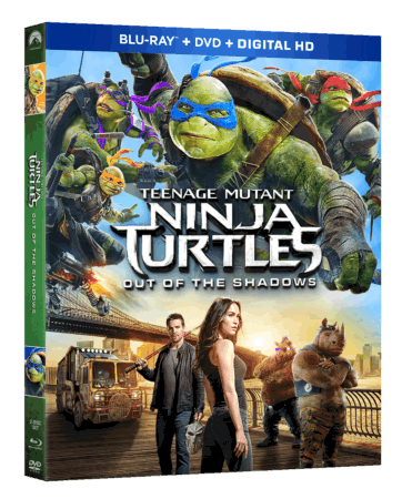 TEENAGE MUTANT NINJA TURTLES: OUT OF THE SHADOWS arrives on Blu-ray Sept. 20th and Digital HD Sept. 6th 1