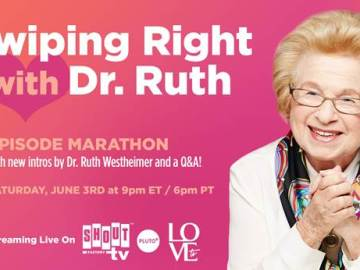 Dr. Ruth to Host Birthday Marathon June 3 with New Q&A 40