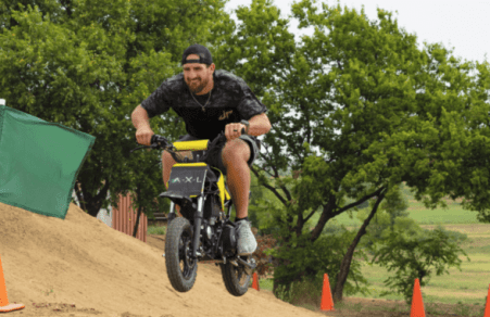Dude Perfect Dirt Bike Battle | A.X.L. In Theaters August 24th 36