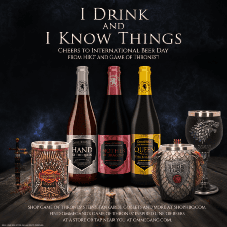Celebrate International Beer Day with Game of Thrones Beer, Goblets and Steins! 1