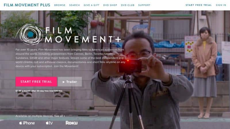 Pioneering Independent Distributor, Film Movement Launches New SVOD Service, FILM MOVEMENT PLUS 1