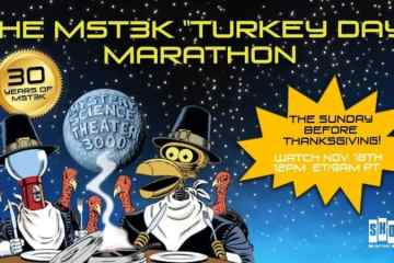 """Celebrate 30 years of Mystery Science Theater 3000 with the 2018 """"Turkey Day"""" Marathon 19"""