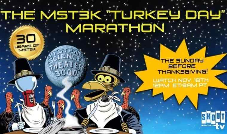 """Celebrate 30 years of Mystery Science Theater 3000 with the 2018 """"Turkey Day"""" Marathon 3"""