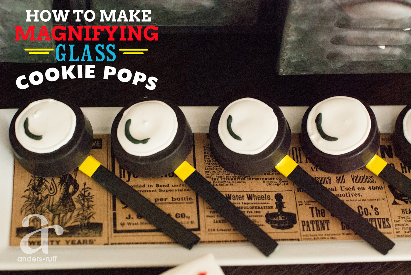 How To Make Detectives Magnifying Glass Cookies Anders