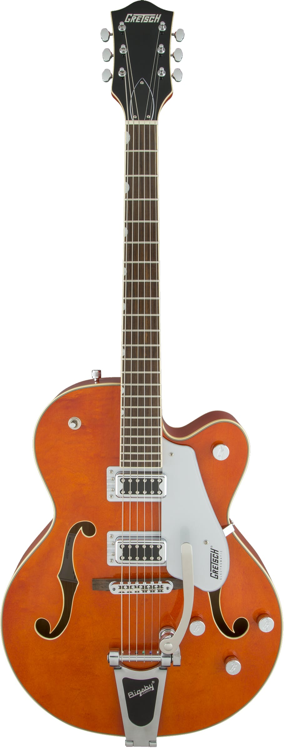 medium resolution of gretsch g5420t electromatic hollowbody in orange w bigsby andertons music co