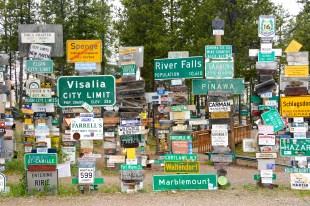 Watson Lake, Canada - Signpost Forest.
