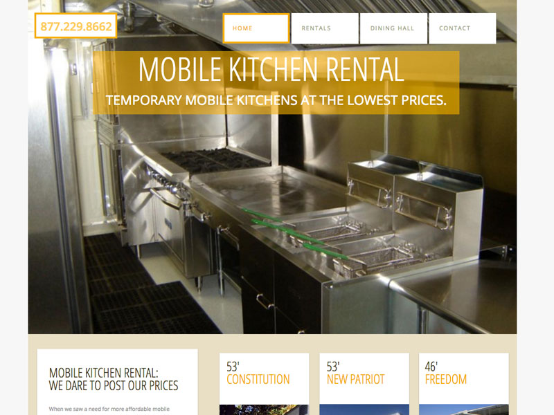 Mobile Kitchen Rental