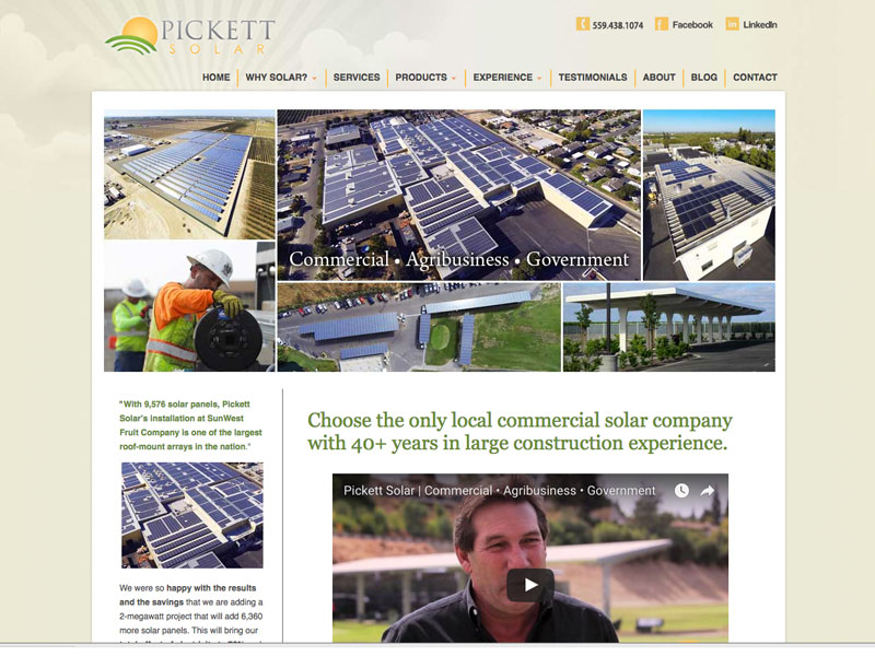 Pickett Solar SEO Fresno CA
