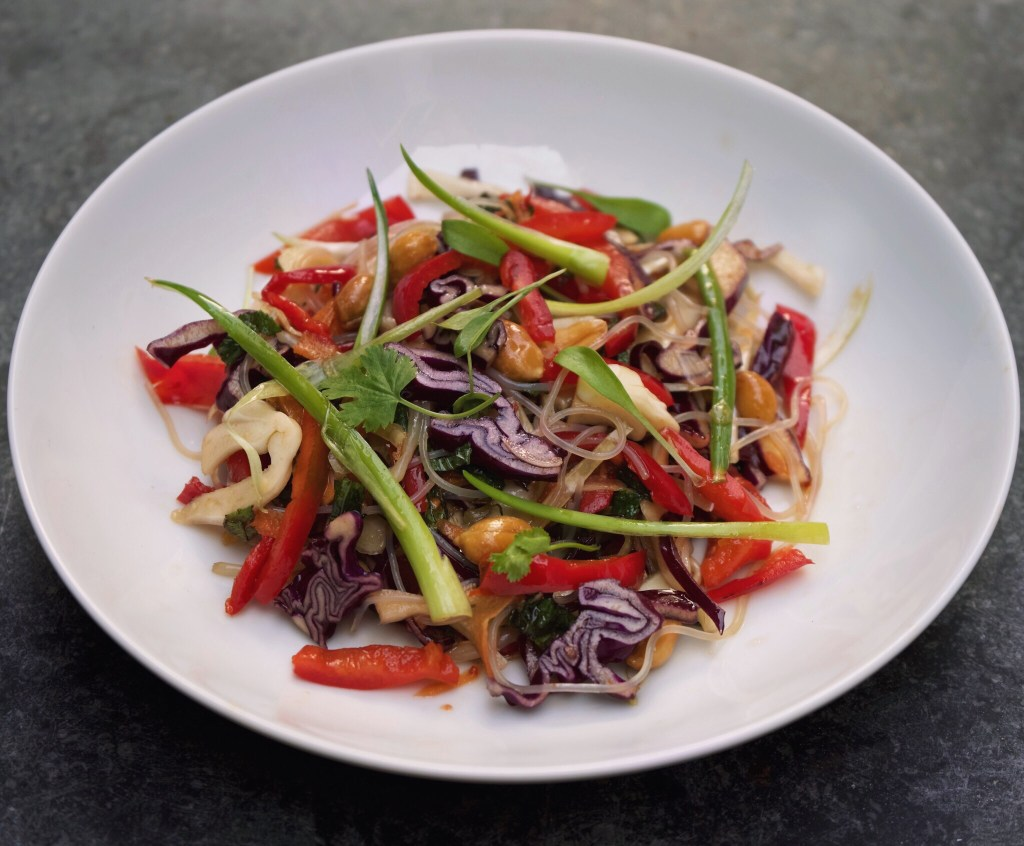 Our Salad of the Day is an Asian Noodle Slaw