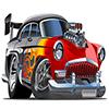 Cartoon Speed Racing Car