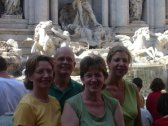 Mom Dad Sarah and Jane at Trevi Fountain
