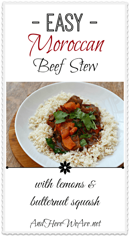 Easy Moroccan Beef Stew with Lemons & Butternut Squash