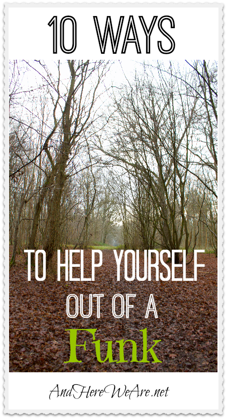 how to help yourself out of depression