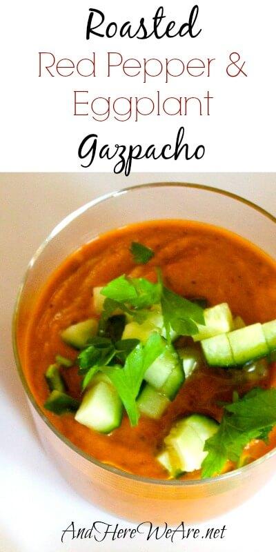 Roasted Red Pepper & Eggplant Gazpacho