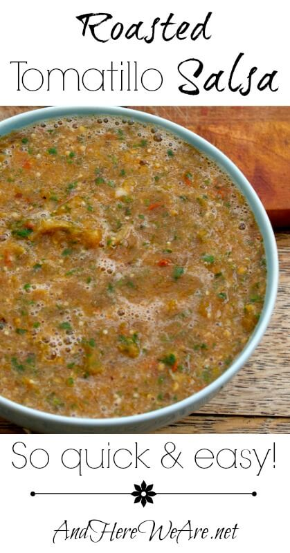Roasted Tomatillo Salsa  And Here We Are...