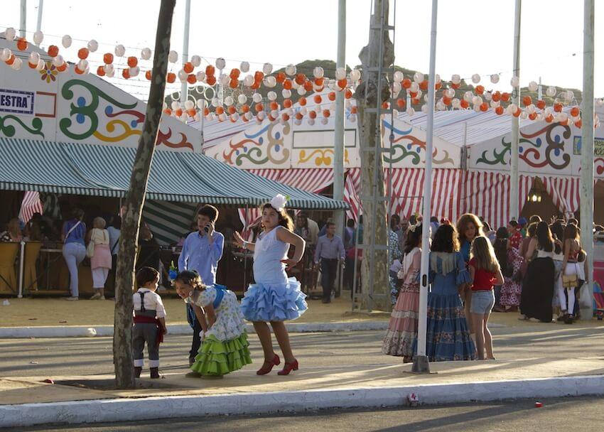 Children Dancing at Feria