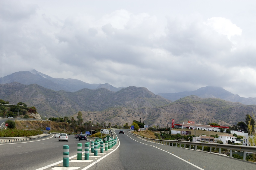 On the road to Nerja, Spain