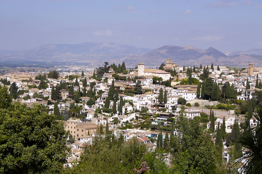 View from the Alhambra, Granada, Spain