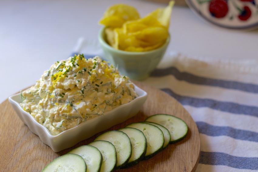 Egg Salad with Greek Yogurt, Dill & Lemon Zest