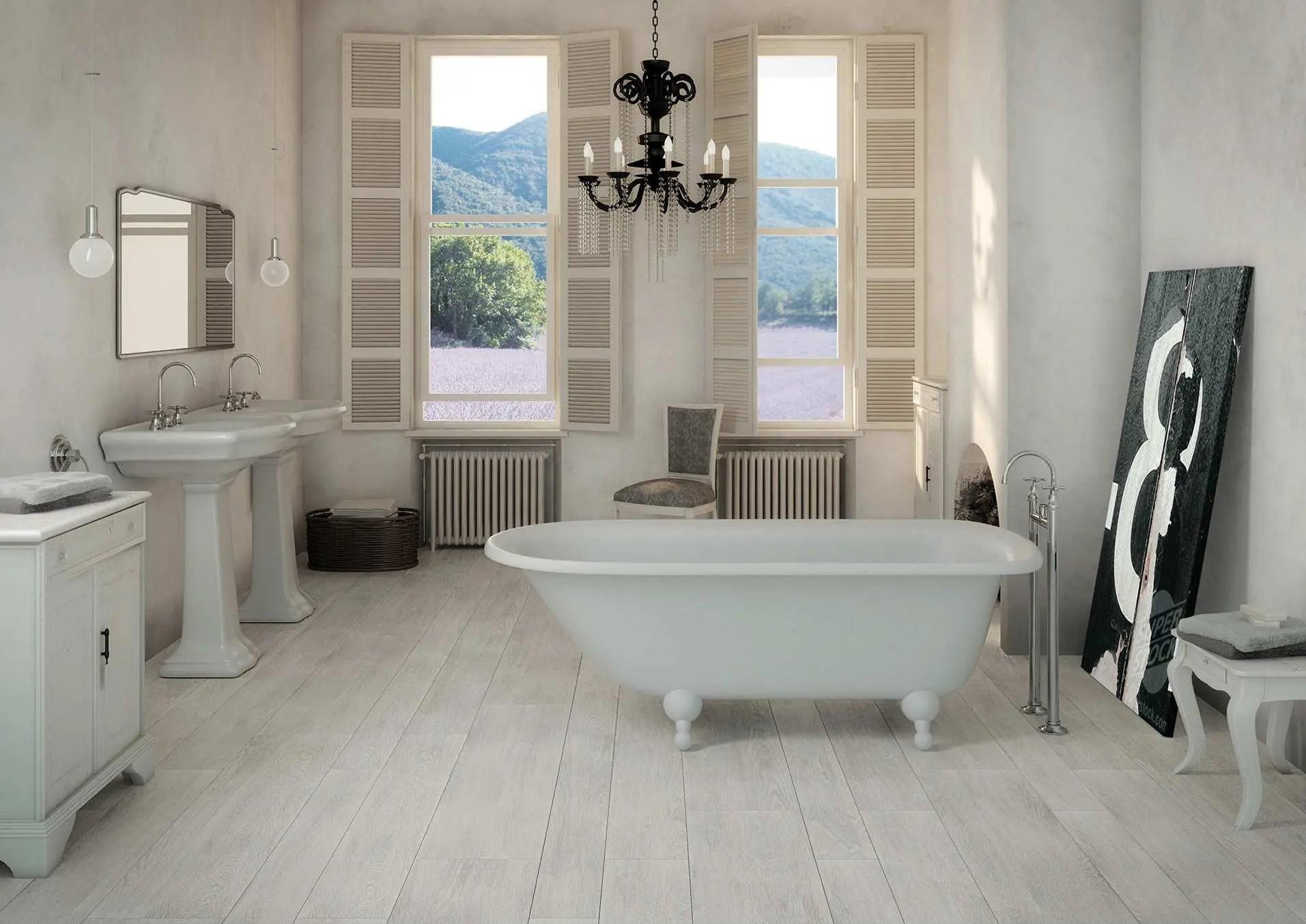 Piastrelle per il bagno effetto legno allways puro design - Piastrelle bagno legno ...