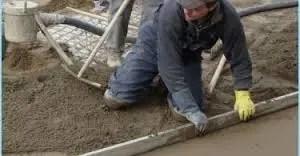 pavimento esterno fatto su massetto