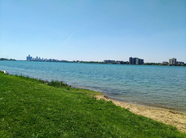 View of Detroit, Michigan from Belle Isle
