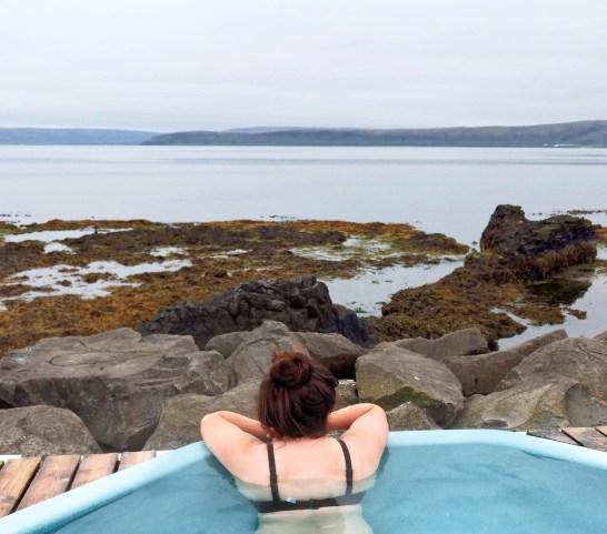 Hot Pot at Drangsnes Iceland