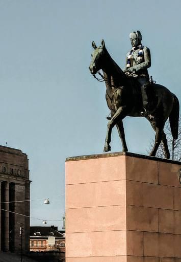 Marshal Mannerheim statue in Helsinki, Finland