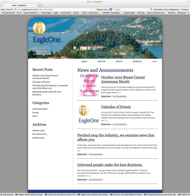 Eagle One Website - Andiamo Creative