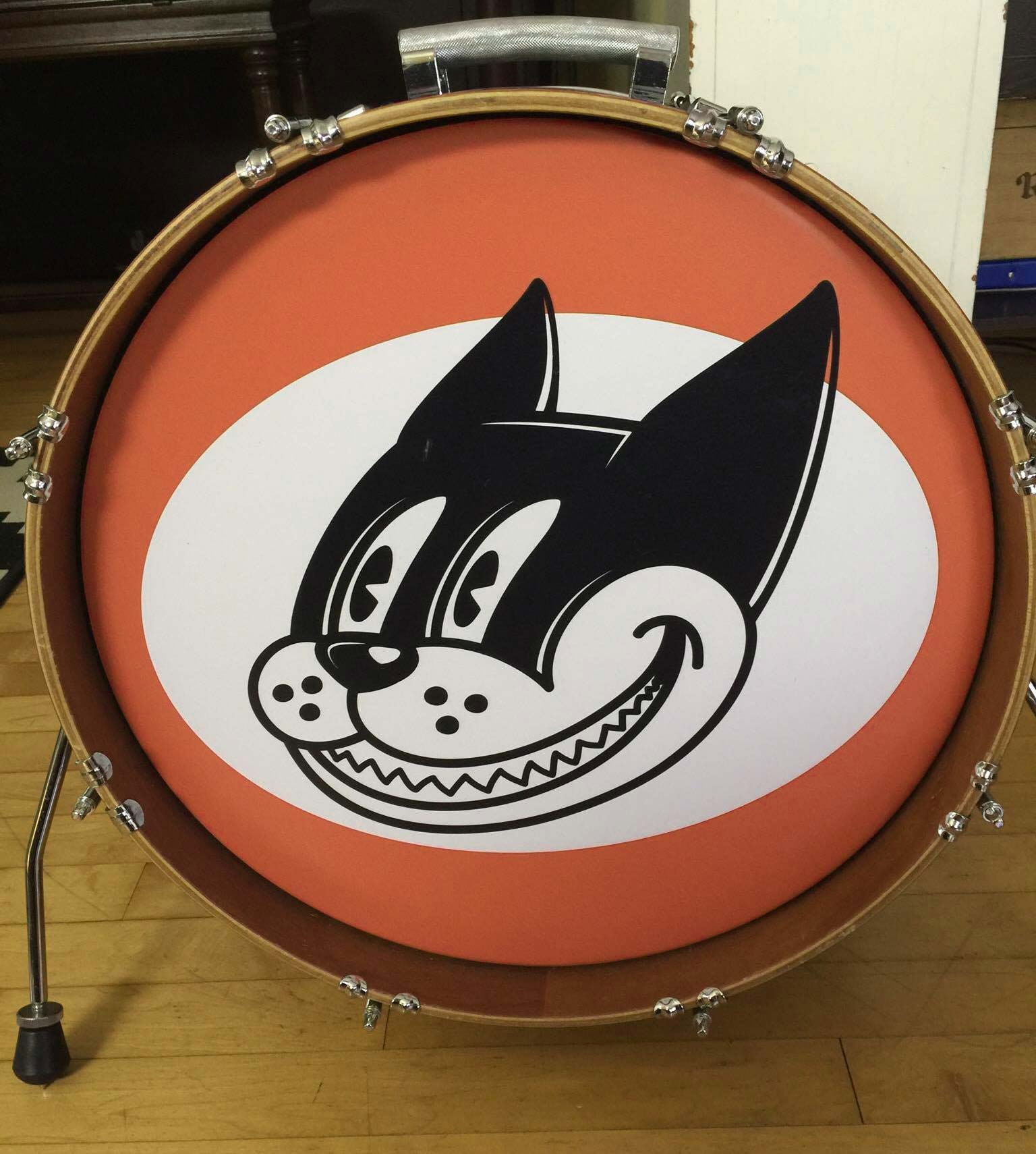 Bass drum head