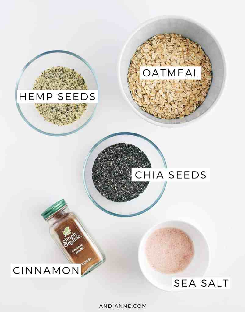 healthy oatmeal ingredients
