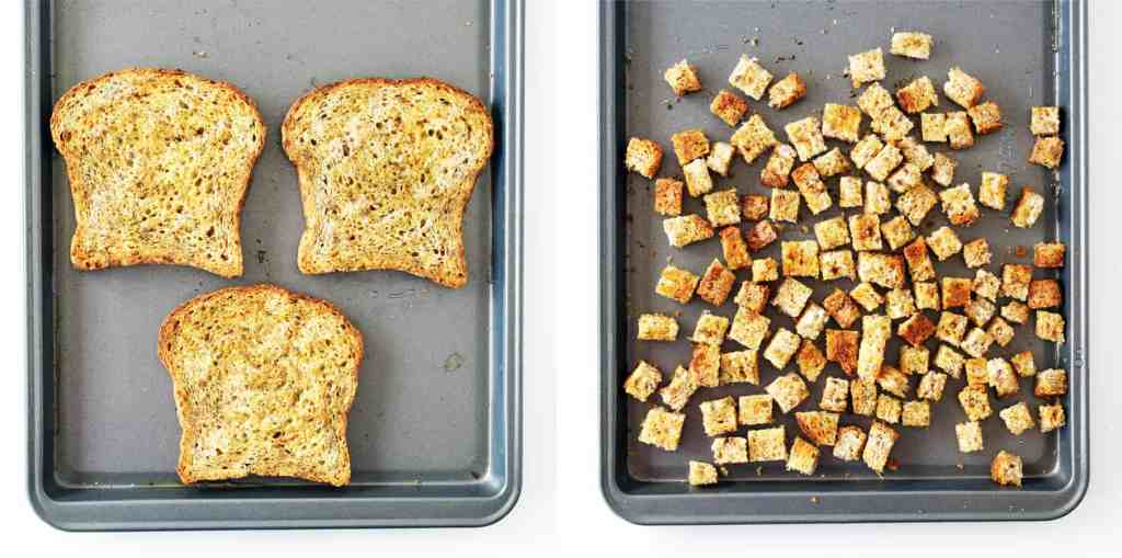 creating toast from croutons