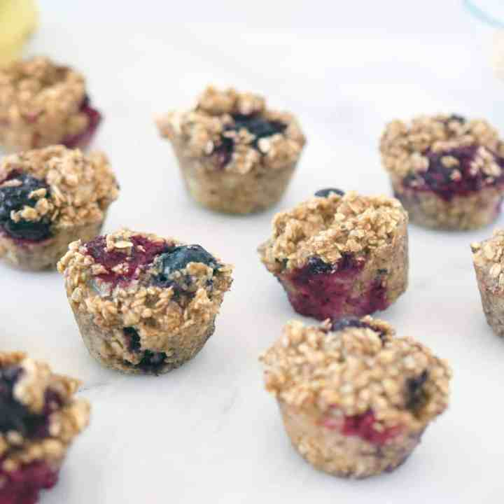 Berry Oat Muffin Bites