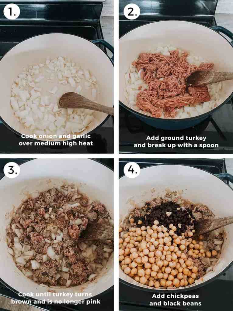 Turkey quinoa chili recipe instructions part one