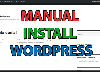 Cara Install WordPress Secara Manual Website cover