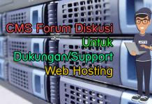 CMS Forum Diskusi Untuk Dukungan Web Hosting