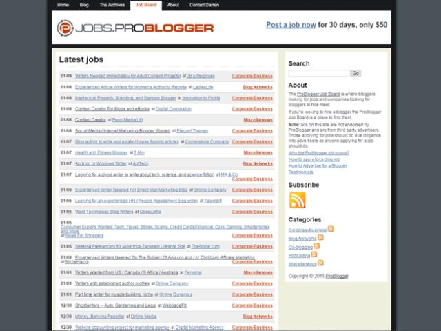 cara menghasilkan uang dengan wordpress problogger jobs board