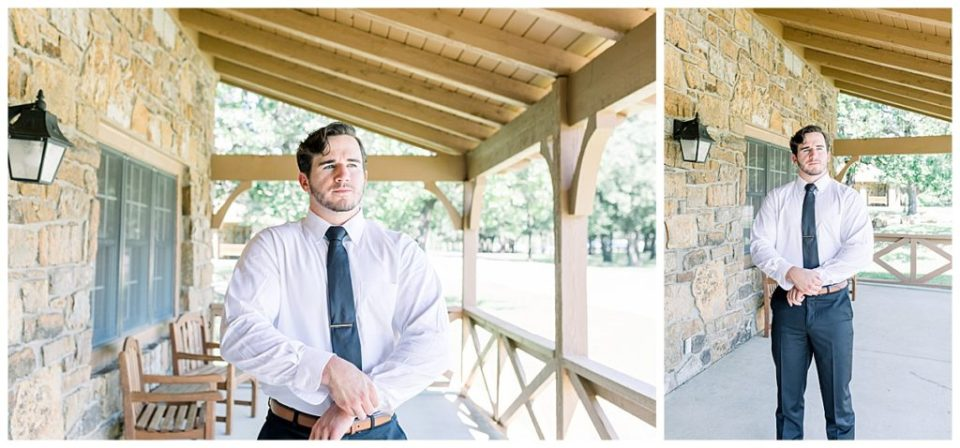 Groom getting ready shots at PostOak Lodge in Tulsa, OK| Tulsa Wedding Photographer| PostOak Lodge Wedding| Destination Wedding Photographer| Andi Bravo Photography
