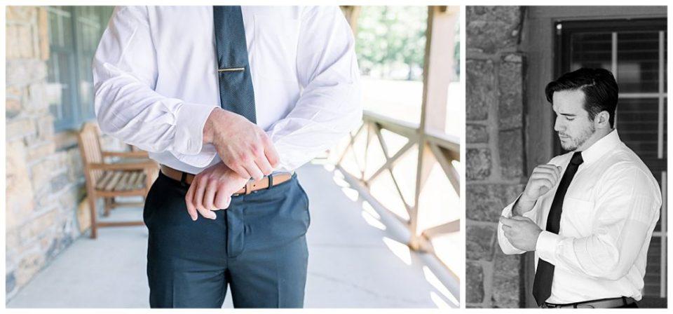 Groom cufflink shots at PostOak Lodge in Tulsa, OK| Tulsa Wedding Photographer| PostOak Lodge Wedding| Destination Wedding Photographer| Andi Bravo Photography