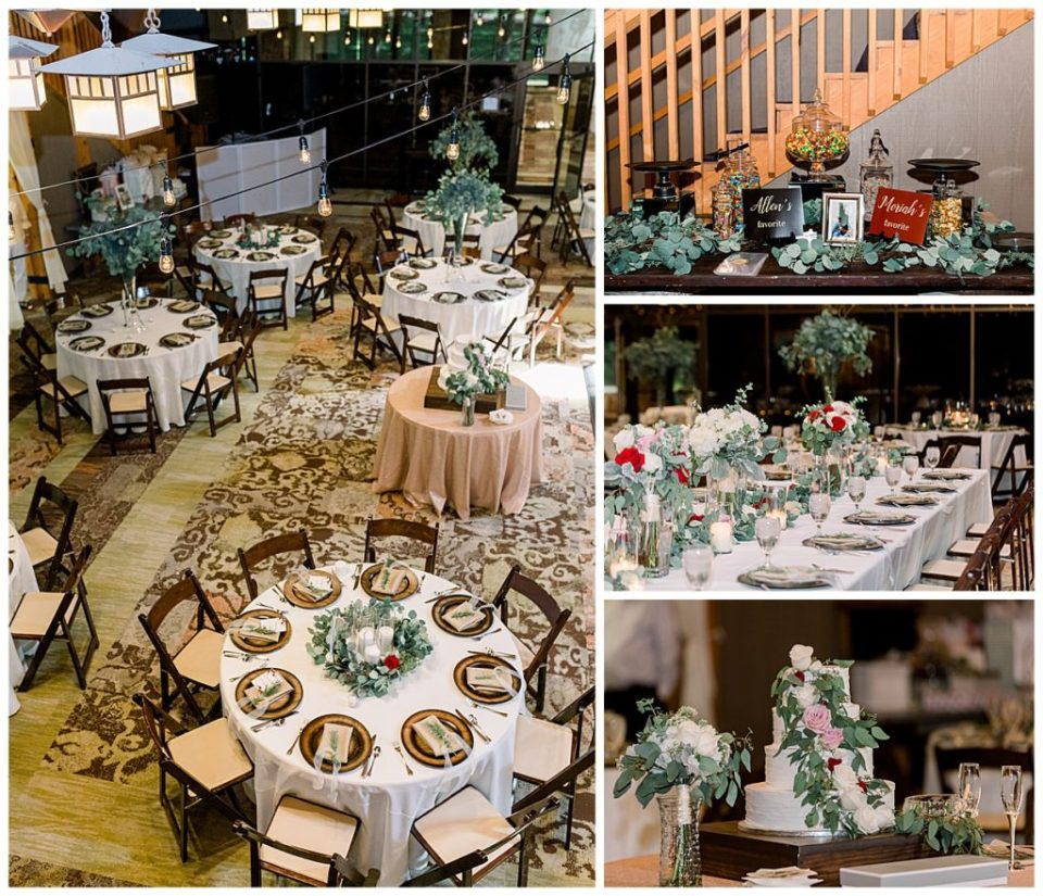 Wedding reception table setting details at PostOak Lodge in Tulsa, OK| Tulsa Wedding Photographer| PostOak Lodge Wedding| Destination Wedding Photographer| Andi Bravo Photography