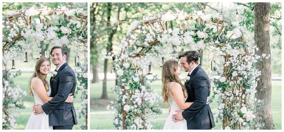 Bride and groom at wedding ceremony at PostOak Lodge in Tulsa, OK| Tulsa Wedding Photographer| PostOak Lodge Wedding| Destination Wedding Photographer| Andi Bravo Photography