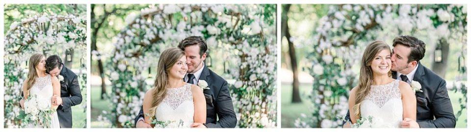 Bride and groom nuzzle at alter at PostOak Lodge in Tulsa, OK| Tulsa Wedding Photographer| PostOak Lodge Wedding| Destination Wedding Photographer| Andi Bravo Photography