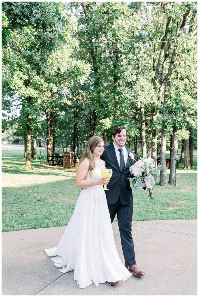 Bride and groom headed to wedding reception at PostOak Lodge in Tulsa, OK| Tulsa Wedding Photographer| PostOak Lodge Wedding| Destination Wedding Photographer| Andi Bravo Photography