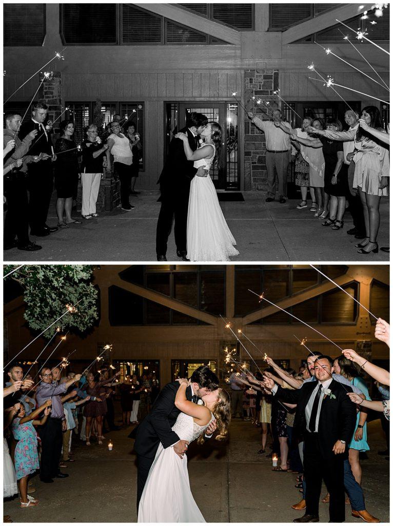 Grand wedding exit at PostOak Lodge in Tulsa, OK| Tulsa Wedding Photographer| PostOak Lodge Wedding| Rustic wedding| Destination Wedding Photographer| Andi Bravo Photography