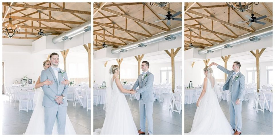 First look| The View At Hillside Barn Wedding| Countryside Wedding|  Tulsa Wedding Photographer| Andi Bravo Photography